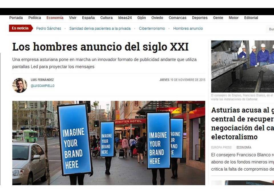 LOS HOMBRES ANUNCIO DE IMPACTODUAL EN LA PRENSA DIGITAL